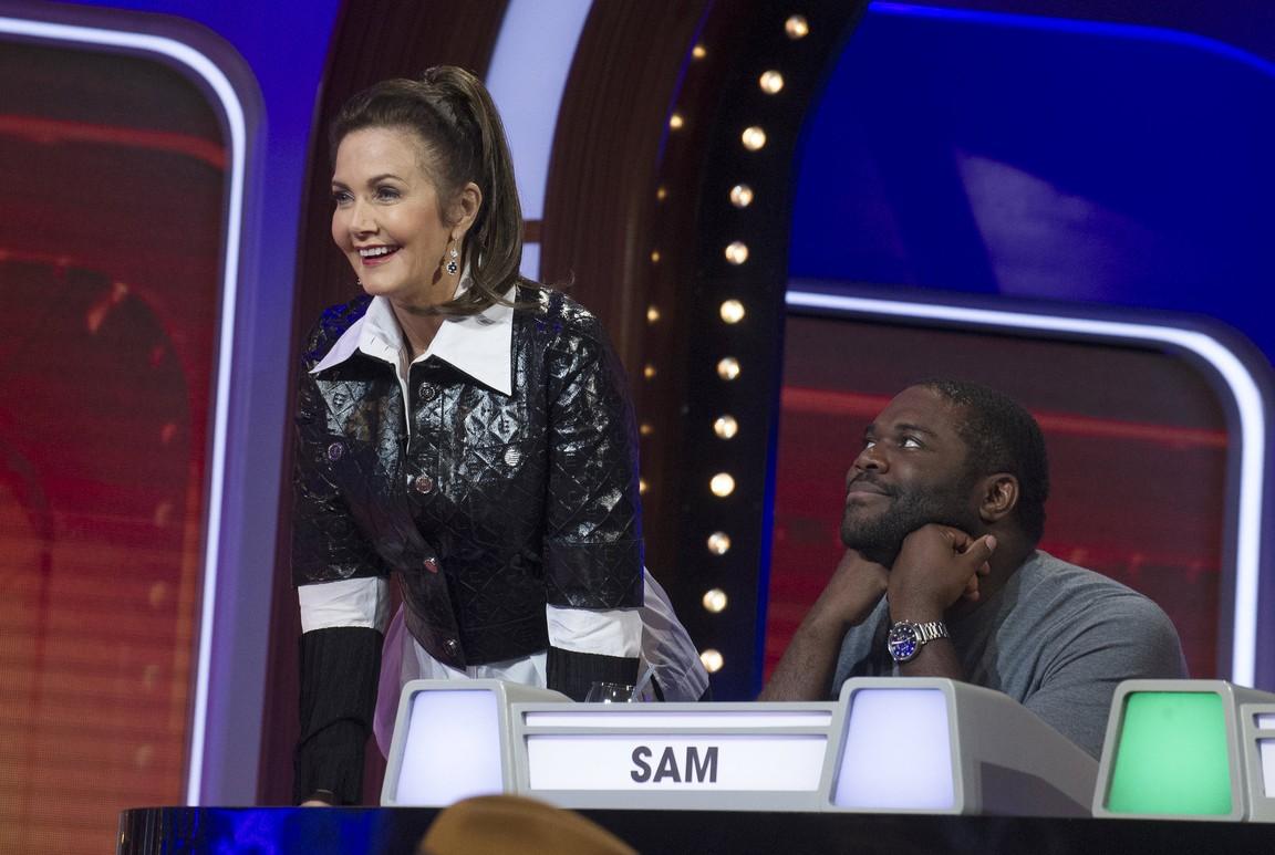 Match Game - Season 3 Episode 06: Lynda Carter/Sam Richardson/Cheryl Hines/Colton Haynes/Caroline Rhea/Taye Diggs