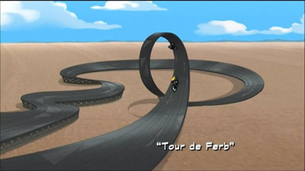 Phineas and Ferb - Season 3 Episode 10: Skiddley Whiffers - Tour de Ferb