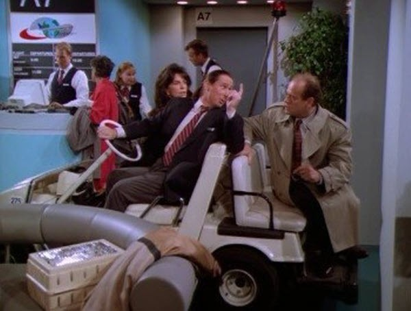 Frasier - Season 3 Episode 10: It's Hard to Say Goodbye If You Won't Leave